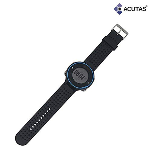ACUTAS Silicone Watch Band Strap with Tool for Garmin Forerunner 220 230 235 620 630 735XT (Size:Large)