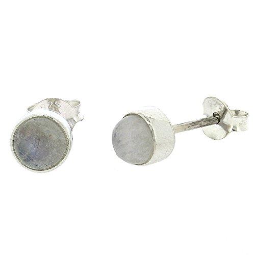 Nova Silver Bemine Sterling Silver Moonstone Round Stud Earrings JVNQX