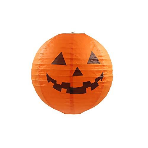 l Dekoration Set Halloween Papier Laternen dekorative Requisiten Keine Notwendigkeit 1 Packung für Halloweendeko Make-up-Party Halloween Dekoration ()
