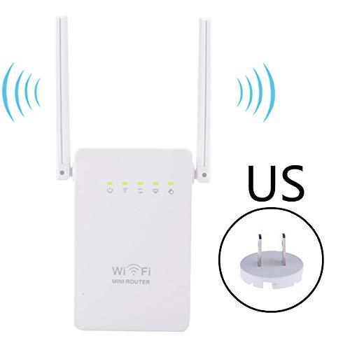 YHML WiFi Signalverstärker | WiFi Repeater Extender | Bis zu 2,4 G 300 Mbit/s, Access Point | Einfache Konfiguration | Externe Antenne und Compact Internet Enhancer,US -