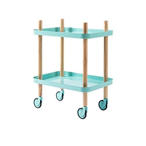 LALAWO Hauptdekoration Lagerregal Lagerregal Trolley - Beauty Salon Trolley Werkzeugwagen Medical Fußbad Wagen Beauty Equipment Cart Küchenregal (Farbe : A, größe : 50 * 35 * 64.5cm)