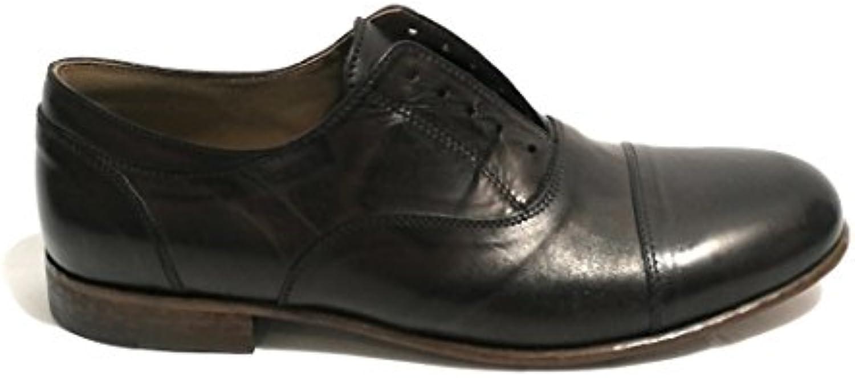 NICOLA BARBATO Zapatos de Cordones de Piel Para Hombre Marrón -