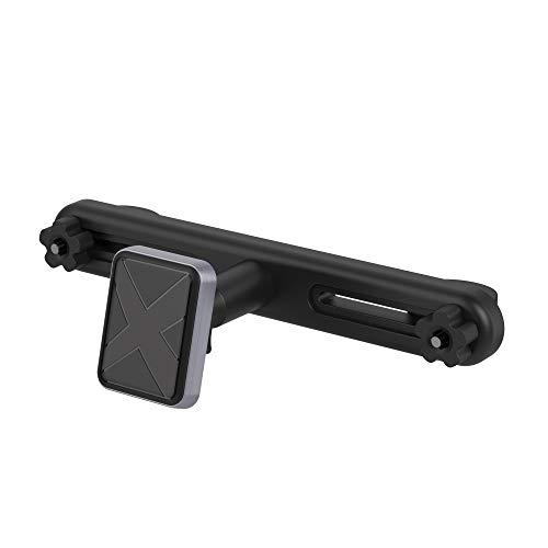 XLayer magfix KFZ-Halterung für die Kopfstütze, KFZ-Magnethalterung für Befestigung an der Kopfstütze für Smartphones und Tablets, Schwarz