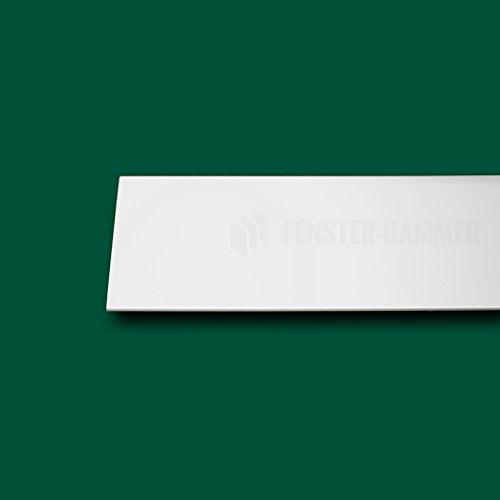 Flachleiste Abdeckleiste Fensterleiste 25mm breit 6m lang Kunststoff Flachprofil