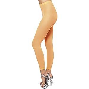 Smiffys 42793 - Mallas opacas para adultos, color naranja (Neon Orange), talla única