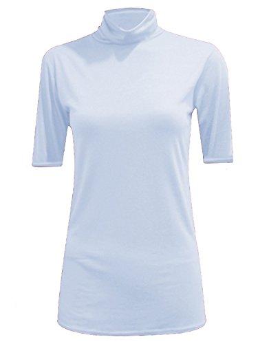 WearAll - Haut à col roulé sans manches - Hauts - Femmes - Tailles 36 à 42 Cream Short Sleeve