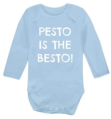 Flox Creative Long Sleeved Baby Vest Pesto is The Besto Light Blue 6-12 Months