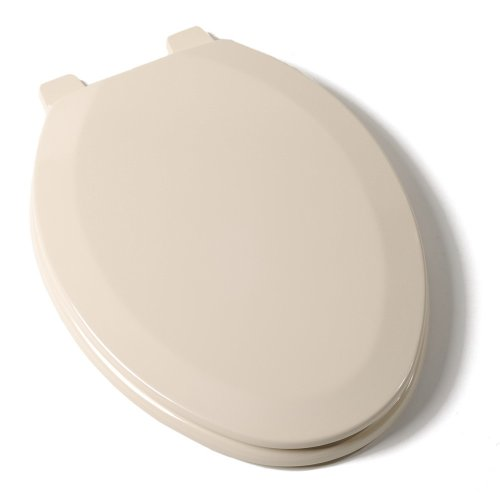 Comfort Seats C014WD03 Deluxe Molded Wood Toilet Seat, Elongated, Almond by Comfort Seats