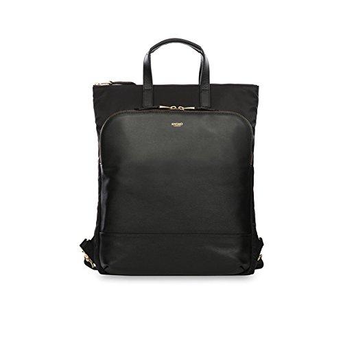 Knomo 119-207-BBS Harewood 2-in-1 Rucksack-Handtasche, 33,02-38,1 cm (13-15 Zoll) schwarz