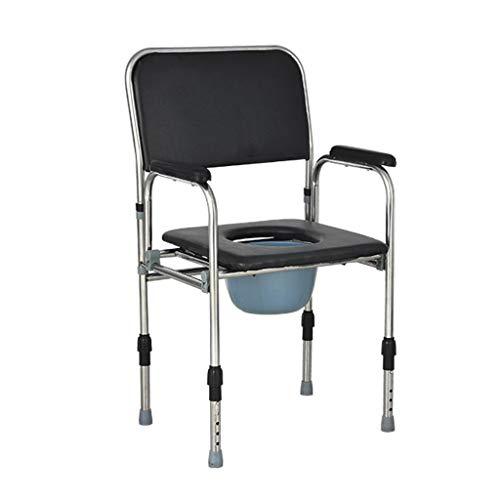 Ace xiaoliu Toilettenstuhl, für ältere Menschen, für den Außenbereich, für den Strand, für Schwangere und Behinderte, Toilettensitz, 53 x 45 x 88,5 cm - Ace-legierung