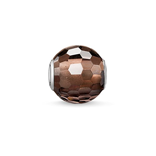 Thomas Sabo Damen-Bead Karma Beads 925 Sterling Silber Rauchquarz braun K0082-031-2