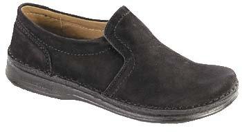Footprints - pantoufle ''Nashville'' de Cuir en Noir Noir