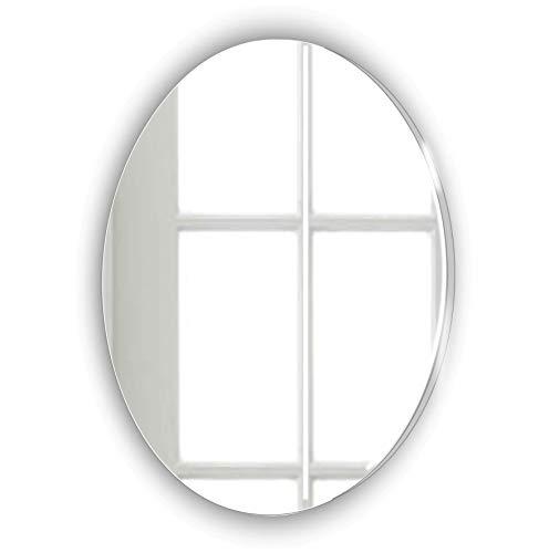Espejo ovalado decorativo sin marco