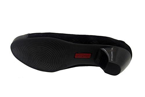 Scarpe donna comfort pelle Piesanto 7409 casual comfort larghezza speciale Carbon