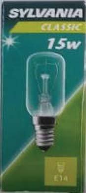 Sylvania Röhrenlampe E14 15 Watt Klar 07340 von Sylvania|Sylvania bei Lampenhans.de