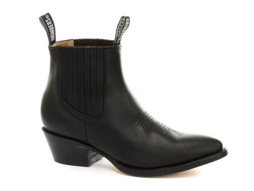 Größe Männer 13 Schwarze Cowboy Stiefel (Grinders Maverick Herren Cowboy Stiefel, Schwarz, Größe 46)