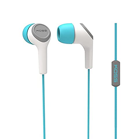 Koss KEB 15I in-Ear/In-Ear-Kopfhörer mit Mikrofon und Fernbedienung für iMac/iPhone/iPad/iPod/Laptop/MP3-Player/Samsung/Smartphones