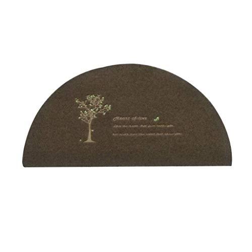 Tischset 1 X Half Moon Runde Teppich for Badezimmer Halbkreis Boden Teppiche Küche Schlafzimmer Dekoration