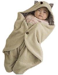 Autek Multifonction nourrisson de bébé Swaddle Blanket et capot chaud Sac de couchage Wrap Onesie (BabyB-02)