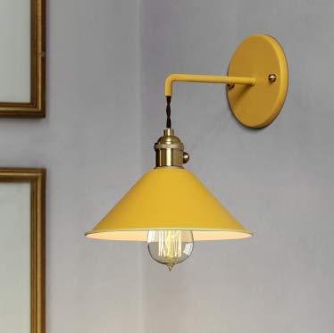LED Wandleuchte Kreative Wohnzimmer Treppe Gang Schlafzimmer Nacht Macaron Topf Deckel kleinen Regenschirm Wandleuchte (weiß) Wandleuchten (Farbe : Gelb)