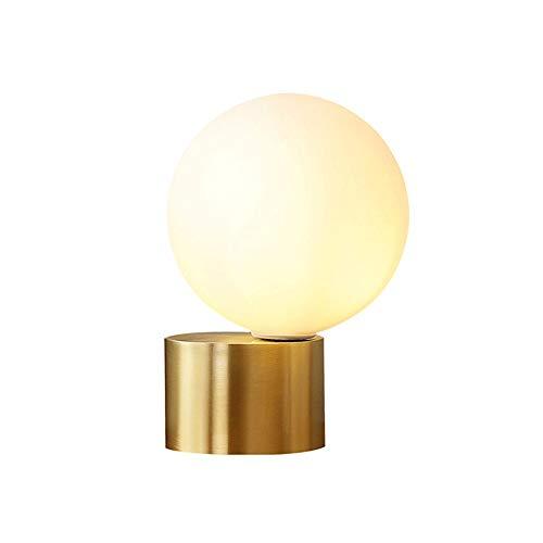 XWSH Einfache Kupfer tischlampe Wohnzimmer Dekoration Lampe warm Schlafzimmer nachttischlampe Nordic Beleuchtung kreative lampen -