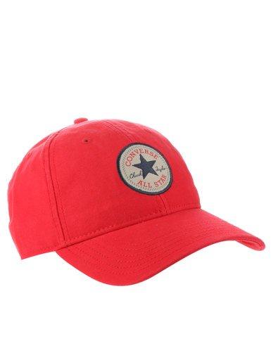 Preisvergleich Produktbild Converse Baseball Kappe Tip Off Cap Core rot - Einheitsgrösse,  verstellbar