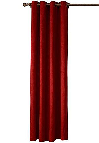Wildleder Öse (Insun Vorhängen mit Ösen Gardine Blickdichte Imitat Wildleder Vorhang Rot 1 Stück 140 x 260 cm)