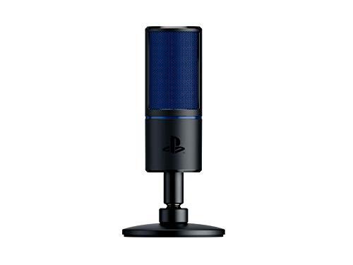 Razer Seirēn x for PS4: Gaming Kondensator-Mikrofon - Eingebaute Schockabsorbierung - Professionelles Streaming-Mikrofon in Profiqualität
