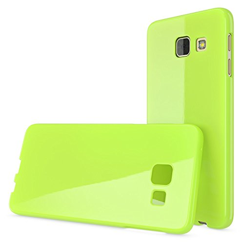NALIA Handyhülle für Samsung Galaxy A5 2017, Ultra-Slim TPU Silikon Jelly Case Hülle, Dünne Gummi Schutzhülle Skin, Etui Handy-Tasche Back-Cover Bumper für Samsung A5 2017 Smartphone - Grün - 5