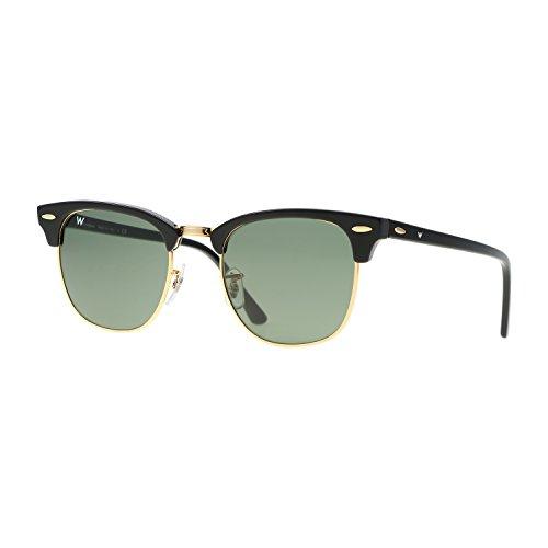 Preisvergleich Produktbild Wsunglass W955 W0365 Schwarz Gestell Kristallglas Grün Gläser Damen Herren Sonnenbrille 1mm RB3016
