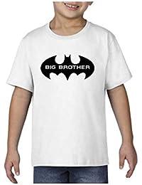 YaYa cafe Bhaidooj Kids Boy T-Shirt Batman Big Brother Printed Cotton