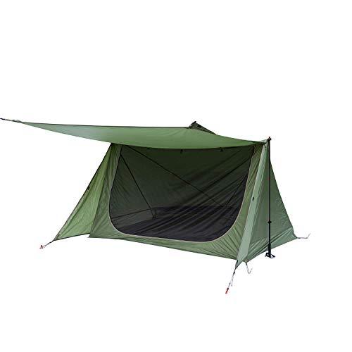 OneTigris Shelter Zelt Leichtes Wurfzelt Sonnensegel, 4 Jahreszeit Unterschlupf Tent mit Notfallmatte für Camping Wandern |MEHRWEG Verpackung Armee Grün
