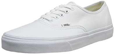 Vans U Authentic - Baskets Mode Mixte Adulte - Blanc (True White) - 34.5 EU