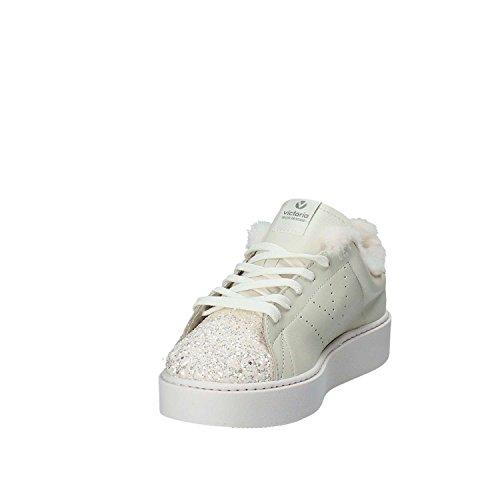 VICTORIA scarpe donna sneakers basse con piattaforma 260121 Bianco