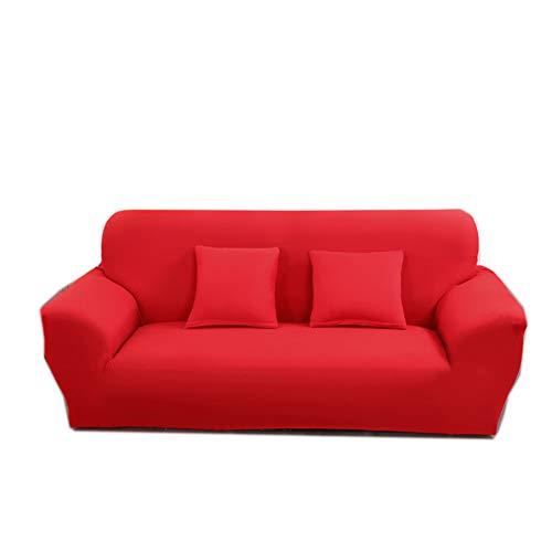 Stoff Sofa, Sofa Loveseat Sessel (WMWZ Sofabezüge Schonbezug Sofa - Stretch Loveseat Bezug - 1-teilig 1 2 3 4 Sitzer Möbelschutz Polyester Spandex Stoff Schonbezug Rot,1Seater)