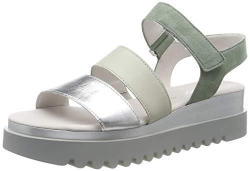Gabor Shoes Jollys, Sandali con Cinturino alla Caviglia Donna, Grigio (Silber/Mint 60), 44 EU