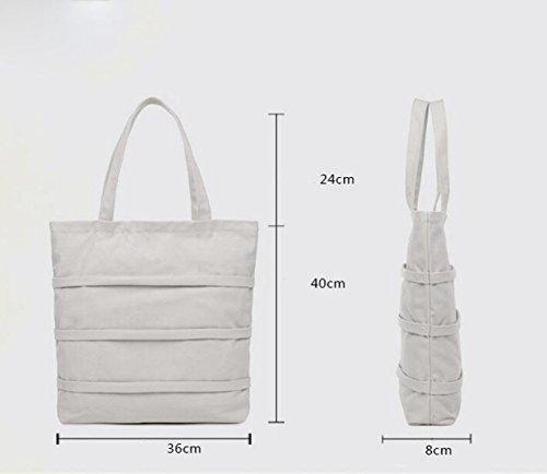 Einfache Art Und Weise Wilde Kurierbeutel-großes Paket Beiläufige Segeltuchbeutel-Schulterhandpflege Totebeutel Beige