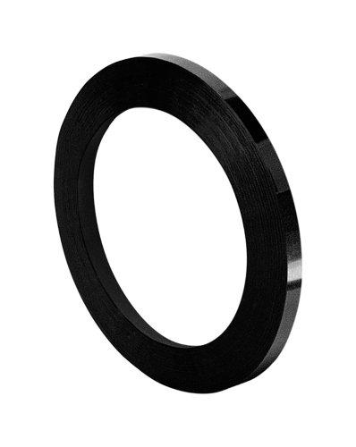 TapeCase 850 Polyesterfolien-Klebeband, umgewandelt von 3M 850B, 0,6 x 72 m, Schwarz