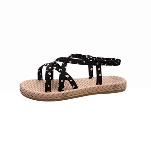 24277ecc64797c Lilicat Women's Casual Strappy Sandali con Cinturino alla Caviglia Estate  Eleganti Moda da Sposa Bambina Piatti