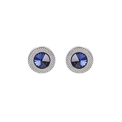 AdorabCufflinks Gemelli Moda Francese Quadri Uomini Camicie Accessori Blu
