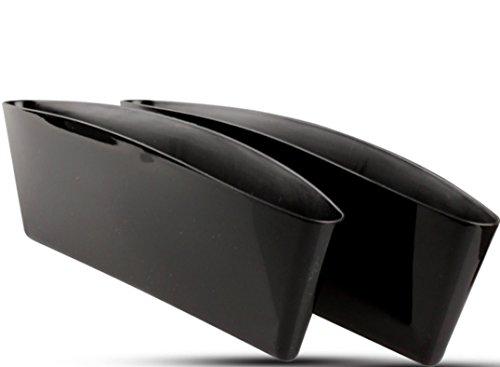 2X KFZ Autositz Ablagefächer Utensilientasche - Farbauswahl- Handy Halter Tasche Box Organizer Auto LKW Autositz (Schwarz - Kunststoff)