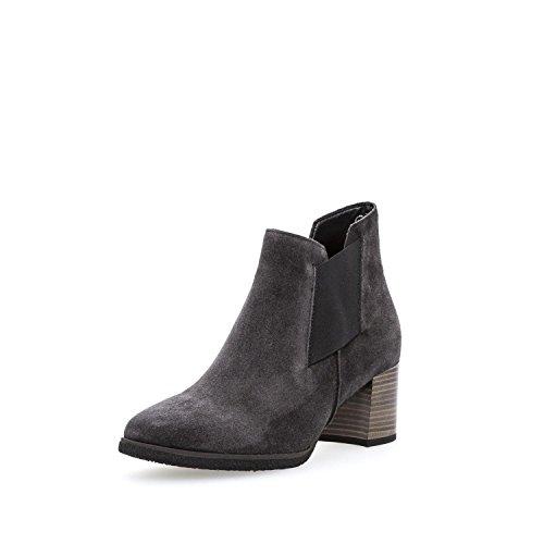 Gabor Damenschuhe 72.830.39 Damen Stiefeletten, Boots, Stiefel, in Comfort-Mehrweite, mit Reißverschluss Grau (Dark-Grey (Micro)), EU 5.5