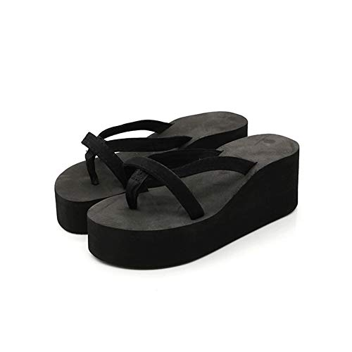 Aardich Women Platform Flip Flops Comfy Wedge Heel Clip Toe Sandals Casual Summer Platform Sandals Beach Shoes Platform Sandal