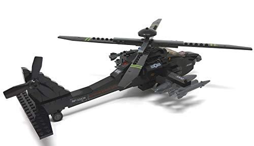 Modbrix 1484020 – ★ Bausteine Apache AH-64 Kampf Hubschrauber mit LED Beleuchtung & Sound inkl. custom US ARMY Special Forces Soldaten aus original Lego© Teilen ★ - 5