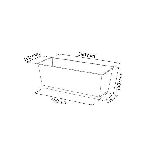 blumentopf blumenkasten balkonkasten rattan optik inkl untersetzer anthrazit l 40 cm. Black Bedroom Furniture Sets. Home Design Ideas