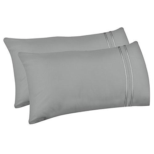 Lirex 2-Pack Fundas de Almohada, Tamaño Queen Fundas de Almohada de Microfibra Suave Cepillada de Alta...