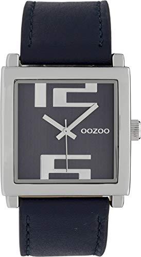 Quadratische Fashion Oozoo Damenuhr mit Lederband 34 MM