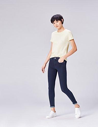 FIND Damen T - Shirt Aus Baumwolle Basic Beige (Butrmilk)