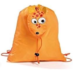 DISOK - Mochila Plegable Animals Naranja - Mochilas Para Niños, Guarderías, Fiestas de Cumpleaños Regalos Niños