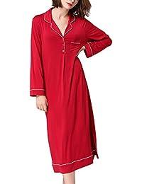 Dolamen Camisón para Mujer Largo, 2018 Mujer Camisones Camisa de Dormir, Nightdress, Lounging